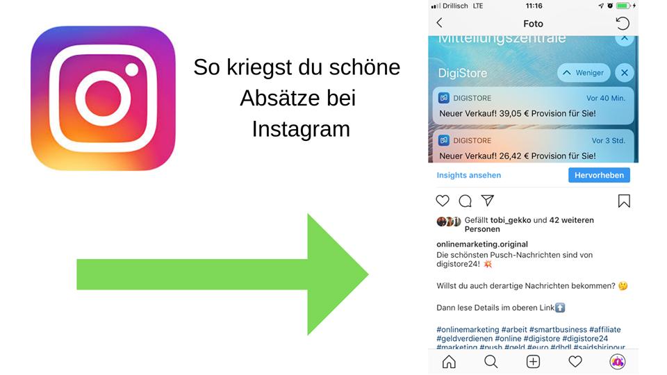 Instagram So setzt man richtige Absätze