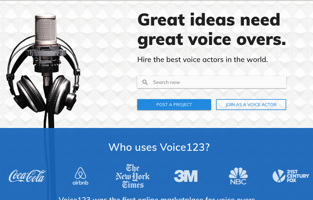 Hier findet man eine Profi-Stimme für sein Webinar oder für seine Produktvorstellung